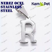Hypoalergenní přívěšek písmeno R nerezová ocel 304, á 1ks