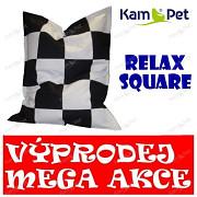 VÝPRODEJ ČERNO / BÍLÝ Sedací vak KamPet Relax 140 RINS square ŠACHOVNICE