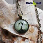 Náhrdelník Strom života přívěšek bronzový vintage řetízek s přívěškem