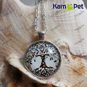 Náhrdelník Strom života přívěšek stříbrný vintage řetízek s přívěškem