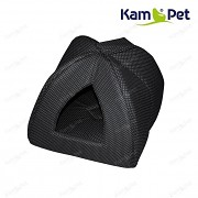 Černý s puntíky domeček Iglú KamPet Classic černý puntík