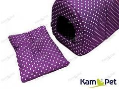 Fialový polštářek do boudičky pro pejska KamPet Classic Fialový s puntíky