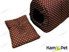Hnědý polštářek do boudičky pro pejska KamPet Classic Hnědý s puntíky