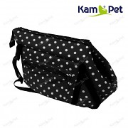 Černá taška na psa KamPet 100% bavlna černý puntík
