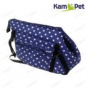 Modrá taška na psa KamPet 100% bavlna Modrý puntík