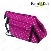 Růžová cyklám taška na psa KamPet 100% bavlna Růžový cyklám puntík