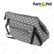 Taška na psa KamPet 100% bavlna vel. 30cm šedý 06 puntík