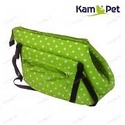 Zelená taška na psa KamPet 100% bavlna zelený puntík