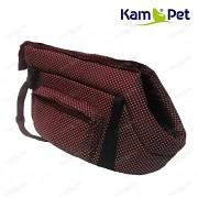 Hnědá taška na psa KamPet 100% bavlna hnědý puntík mikro