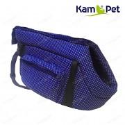 Modrá taška na psa KamPet 100% bavlna Modrý puntík mikro