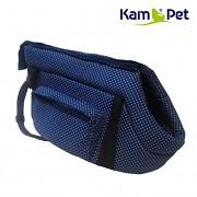 Taška na psa KamPet 100% bavlna vel. 30cm Modrý tmavě 01 puntík