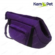 Fialová taška na psa KamPet 100% bavlna Fialový puntík mikro