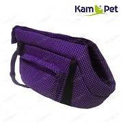 Taška na psa KamPet 100% bavlna vel. 30cm Fialový tmavě 01 puntík