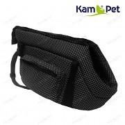 Černá taška na psa KamPet 100% bavlna černý puntík mikro