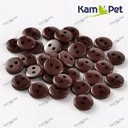 HNĚDÉ hladké kulaté mini knoflíky pryskyřice, 1ks, 15ks nebo 150ks