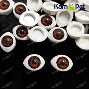 Hnědé oči na výrobu panenek s hnědou duhovkou, bal. 2ks