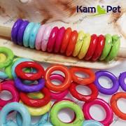 Pestrobarevné korálky kroužky MIX, á 1ks