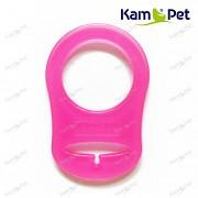 Neon růžový redukční kroužek na dudlík silikonový redukce na dudlík