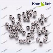 Platinové korálky kovové kuličky 3mm, á 1ks