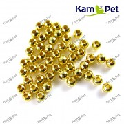 Zlaté korálky kovové kuličky 4mm, á 1ks