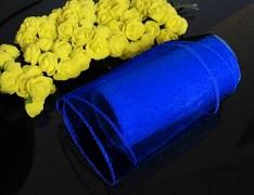 Modrá nivea stuha dekorační organzová 12cm obšitá organza, role