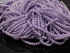 Voskované perly Ø 3mm FIALOVÉ SVĚTLE