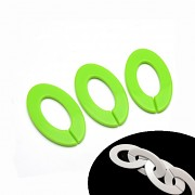 ZELENÝ klip na hračku, dudlík oválný kroužek na zavěšenÍ