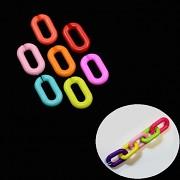 Barevný klip na hračku, dudlík oválný kroužek na zavěšení
