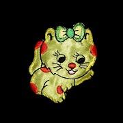 Nažehlovačka velká ŽLUTÁ kočička