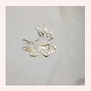 BÍLÉ svatební ubrousky zlaté holubice prsteny, 1ks