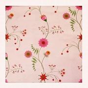 Růžové květiny ubrousky s růžovými květy, 1ks