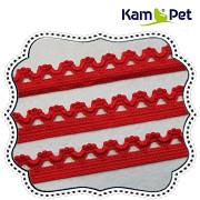 ČERVENÁ ramínková guma KRAJKOVÁ ramínka do podprsenky,  á 1m