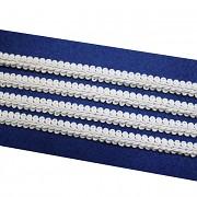 Bílý leonský prýmek 10mm, á 1m