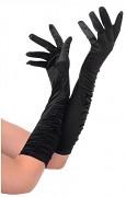 ČERNÉ Dámské společenské rukavičky dlouhé pod loket