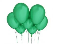 ZELENÝ nafukovací balónek 27cm perleťový extra pevný