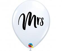 MRS BÍLÝ svatební nafukovací balónek extra pevný USA