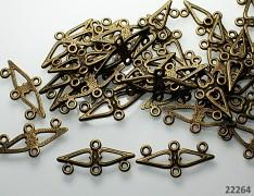 Bronzová ramínka vintage, bal. 2ks