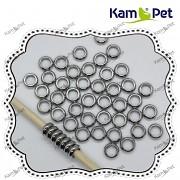 Kroužky platinové pokov, á 1ks
