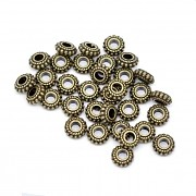 Bronzové korálky kovové mezikorálky, bal. 10ks