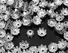 Kaplíky květy 11mm stříbrné, á 1ks