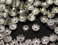 Kaplíky květy 11mm platinové, á 1ks