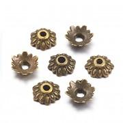 Kaplíky kytičky bronzové á 1ks