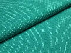 Kupón 260 Zelená látka s puntíky mini puntíkované plátno ATEST DĚTI