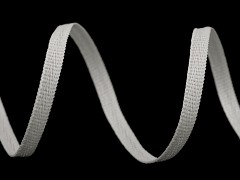 BÍLÁ šňůrka /lemovka PLOCHÁ na šití roušek, á 1m