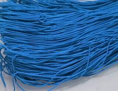 MODRÁ guma kulatá klobouková 1mm pruženka, 3m nebo 27m