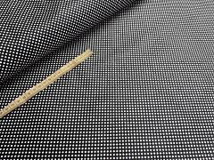 Kupón č. 405 černá látka s puntíky mini puntíkované černé plátno 100% bavlna