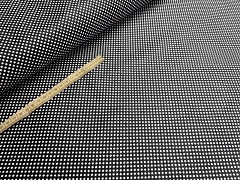 Kupón č. 406 černá látka s puntíky mini puntíkované černé plátno 100% bavlna