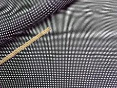 Kupón č. 403 tmavě modrá látka s puntíky mini puntíkované modré plátno 100% bavlna