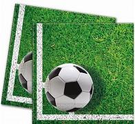 Zelené párty ubrousky fotbalový míč, 1ks