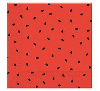 Červené ubrousky s melounem, 1ks